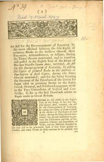 1737 legislation - first page